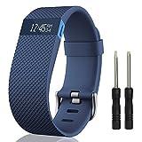 Cinturino per Fitbit Charge HR, einBand Silicone braccialetto di remplacment per Fitbit Charge HR Wristband Watch Fitness Tracker Cinturino, Blu, Grande