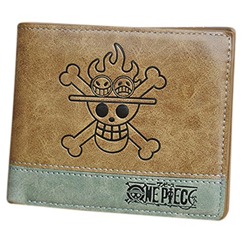 Anime - Cartera para hombre  marrón One Piece