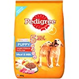 Pedigree Puppy Dry Dog Food, Meat and Milk, 20kg Pack