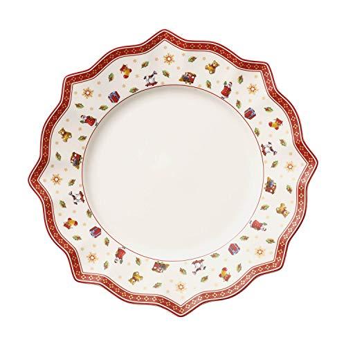 Villeroy & Boch Toy's Delight Plato Llano de Cena, Porcelana, Blanco (White), 25 x 24.5 x 7.5 cm