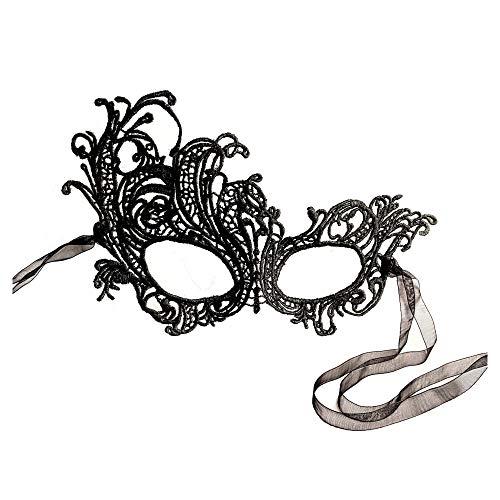 Wunderschöne, weiche Spitze Renaissance-Maske, Schwarz