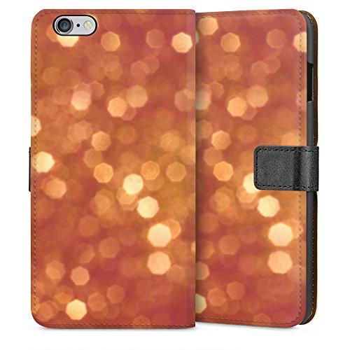"""artboxONE Handyhülle Apple iPhone 6 Plus, schwarz Downflip-Case Handyhülle """"Glitzer Case"""" - Geometrie - Smartphone Downflip Case mit Kunstdruck von Kamil Hajek Sideflip Case weiß"""