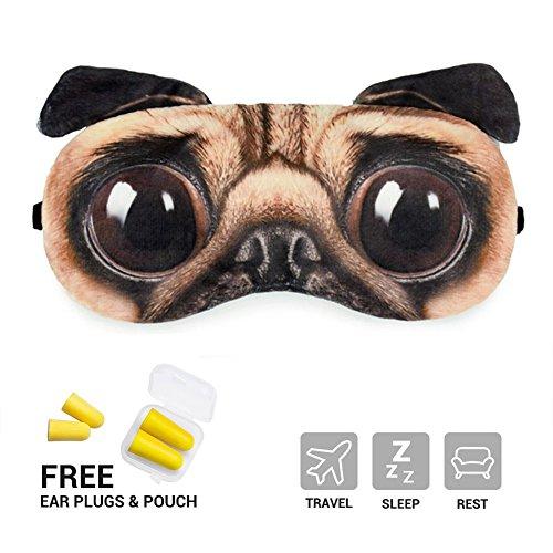 oksano Eye Schlafmaske mit gratis Ohrstöpsel Creative Zeichentrickfilm 3D Katze Augen Maske Meow Schlafmaske Ice Pack Patch für Hot & Cold Therapie Light Shading Cover