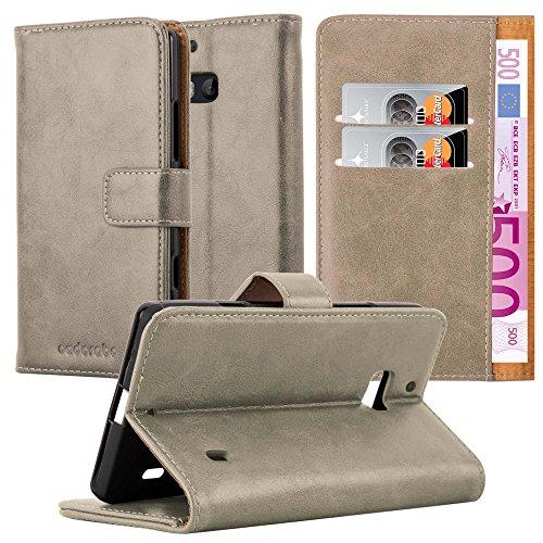 Cadorabo Custodia Libro per Nokia Lumia 929/930 in Marrone Cappuccino – con Vani di Carte, Funzione Stand e Chiusura Magnetica – Portafoglio Cover Case Wallet Book Etui Protezione