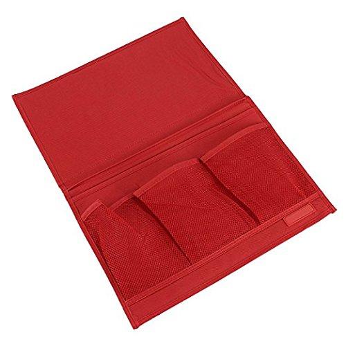 Rote-speicher-kabinett (Badass Sharks Nachttisch Caddy Lagerung Organizer Aufhängen Tasche für Sofabezüge TV Fernbedienung Controller Holder Organizer Tasche Tisch Zeitschriften/Buch/Caddy rot)