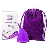 MyCariad Coupe menstruelle, Petite Taille 40mm, Organique, Réutilisable, Moelleux...