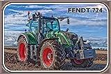 Traktor Fendt 724 nostalgie schild aus blech, tractor