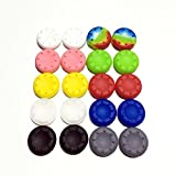 random colors : 20pcs Joystick Silicone Analog Controller Thumb Stick Grip Thumbstick Cap Cover Key Protector For PS2/PS3/PS4/Xbox one/Xbox 360