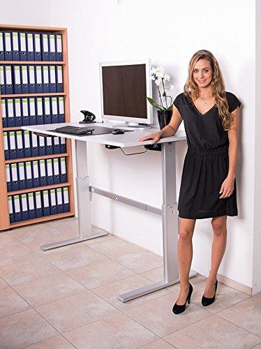 Höhenverstellbarer Schreibtisch in Anthrazit, Elektrisch B 160 cm x T 80 cm Bürotisch Arbeitstisch - 5