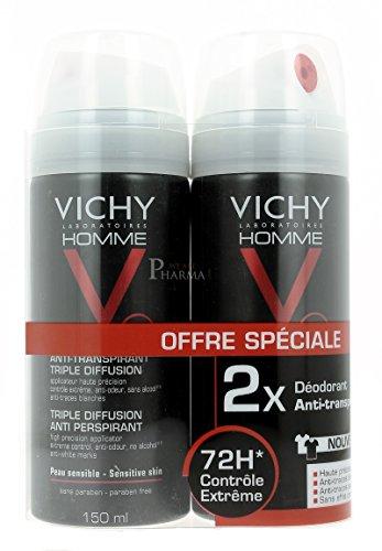 Vichy Homme 72 Hr Triple Diffusion Deodorante Anti Traspirazione - 300 ml