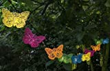 Lichterkette LED-Lichterkette L120cm Farbmix Eisen Schmetterlinge Butterfly