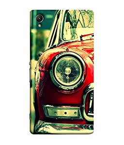 PrintVisa Designer Back Case Cover for Sony X (old designed car head light)