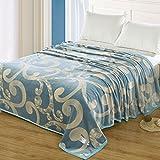 Kuscheldecken HMLIFE Blaue warme Decke Polyester Material Schlafzimmer Bettdecke Vier Jahreszeiten Home Freizeit Decke weich und komfortabel (größe : 200 * 230cm)