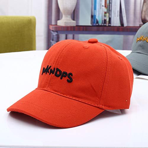 mlpnko Brief HarteBaseballmütze Kinderhut Babymütze neues Babyvisier orange rot 50-52cm geeignet für 2-6 Jahre alt