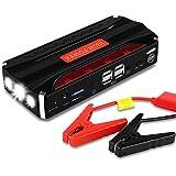 Jump Starter Batería Portátil de Emergencia para coche, Yokkao® Arrancador de Emergencia para coche 16800mAh 600, Kit de Arranque para coche con USB, Luz LED, Cargador Power Bank para Coche, Moto, Laptop, Smartphone, etc.