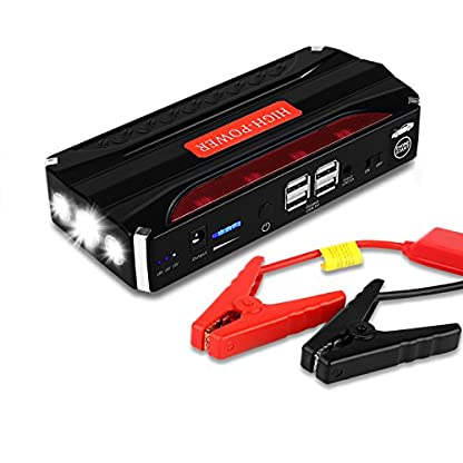 51hFIarj0TL. SS416  - Jump Starter Batería Portátil de Emergencia para coche, YOKKAO Arrancador de Emergencia para coche 16800mAh 600, Kit de Arranque para coche con USB, Luz LED, Cargador Power Bank para Coche, Moto, Laptop, Smartphone, etc.