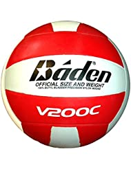 BADEN v200c club volley-ball [rouge/blanc]