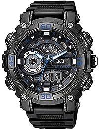 e3617a663384 Q Q Reloj de los hombres GW87J003Y analógica   digital con Correa ...