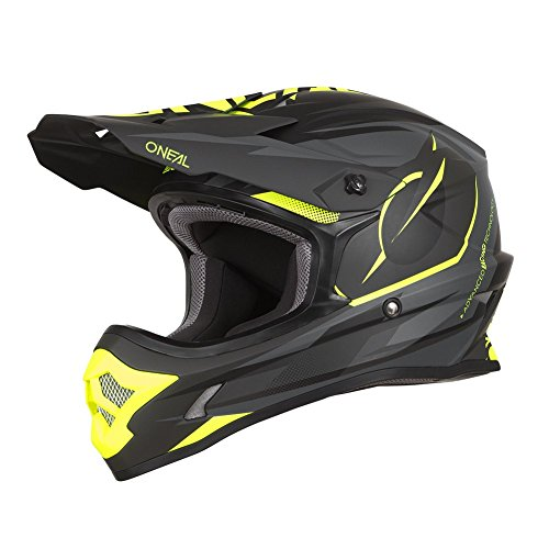 O'Neal 3Series Riff Motocross Motorrad MX Helm Bike FMX Enduro Moto Cross Offroad Quad Trail, 0623-R-Adult, Farbe Schwarz, Größe L (Motorrad Nasenschutz Helm)