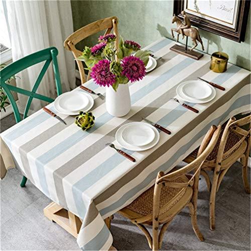 JITIAN Rechteckige Tabelle Cltoth Wasserdicht Oilproof Tischdecke Nordischen Stil Quadratischen Tisch Decken Gitter Stoff Baumwolle Tisch BeschüTzer FüR Indoor Und Outdoor