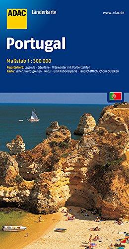 Preisvergleich Produktbild ADAC-Landerkarte: Portugal 1:300.000 (ADAC Länderkarten)