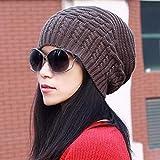 Sombrero de Mujer Ms. Cap. Otoño, Invierno. Gorro de Oreja de Punto. Pareja sciarpa. (Color : Marrón, tamaño : -)
