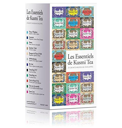 Kusmi Tea - Assortiment de thés Les Essentiels - Boîte de 24 sachets