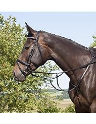 Usg élastique chasse plaque du poitrail avec Fourche de martingale Raccords argentés saddlepart avec snapples