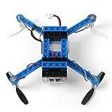 Wokee BLOCKS FPV RC Drohne mit HD Kamera WIFI live Übertragung und APP steuern RC Helikopter Quadrocopter ferngesteuert mit Kamera, Live Video, One Key Start, automatische Höhenhaltung X-101 2.4G 6-Achsen Gyro Mini DIY Baustein RC Quadrocopter