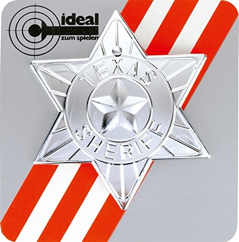 J.G.Schrödel Sheriff-Stern: für Cowboy- oder Polizisten-Kostüme, Ideal für Fasching, silber (710 0071)