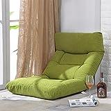 Faules Sofa Justierbarer Faltender Boden-Stuhl, Spielstuhl, Boden-Kissen, Multiangle-Couch-Betten Für Mittag Rest/Fernsehen / Spiel/Nap (Kaffee) (Farbe : Grass Green)