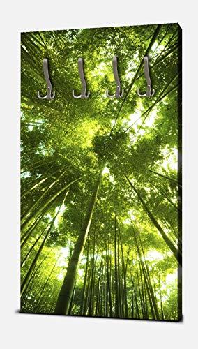 wandmotiv24 Garderobe Bambus Wald Hochformat - 55x100 (BxH) - Dekorfolie Kratzschutz Glanz Wandgarderobe M0338