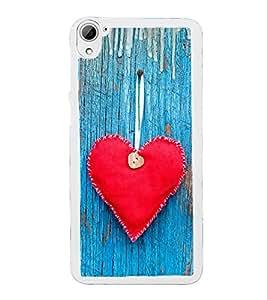 Red Heart 2D Hard Polycarbonate Designer Back Case Cover for HTC Desire 826 Dual Sim