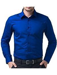 KRYPTAR Men's Full Sleeve Formal Black SHIRT