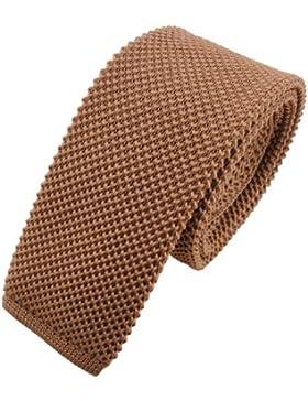 Lazo estrecho de punto - marrón marrón amarillento monocromo