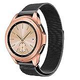 Hunpta@ Uhrenarmband für amsung Galaxy Watch 42mm Luxus Milanese Magnetic Loop Edelstahl Metall Armband Uhrenarmband (Schwarz)