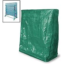 ECD Germany 180 x H 160 B x 55 T cm Housse de protection pour table de ping pong en polyéthylène avec fermeture éclaire