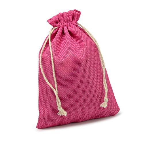 Ganzoo 24er Set Jutesäckchen für Adventskalender zum selbst befüllen, 17,5cm x 12,5cm, Jutebeutel, Stoffbeutel, Natur Säckchen, Geschenksäckchen, Sack, Beutel - Marke (Magenta)