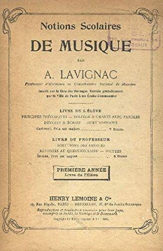 Notions scolaires de musique Livre de l'élèv...