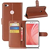 Funda® Capirotazo Billetera Funda para Xiaomi Redmi Note 5A Prime/Note 5A (Marrón)