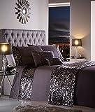 Dazzle Bettbezug, 100% Polyester, anthrazit, Doppelbett