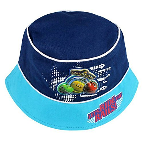 Image of Official Licensed Boys Kids Blue Chuggington Summer Bucket Hat Age 1-2 Years