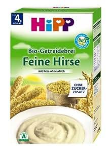 Hipp Getreide-Brei feine Hirse 2830, 6er Pack (6 x 250 g Packung) - Bio