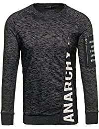 BOLF – Sweat-shirt – Manches longues – U-neck – Classique – Motif – Homme [1A1]