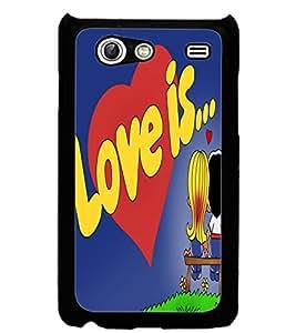 ColourCraft Love Image Design Back Case Cover for SAMSUNG GALAXY S ADVANCE I9070
