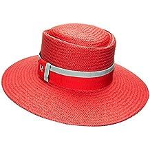 RACEU ATELIER Sombrero Acapulco Rojo - 100% Papel - Ala 8 cm - Sombrero para 8d8ad3b6ba7
