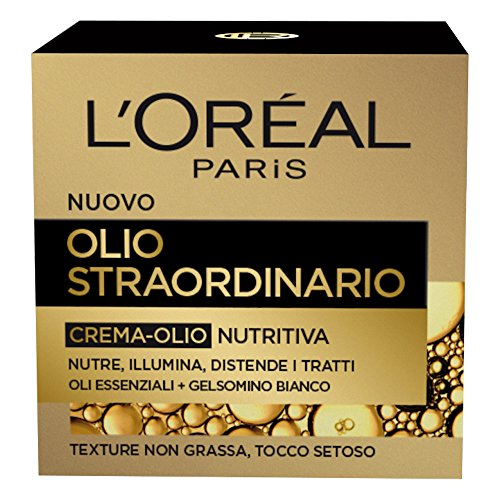 L'Oréal Paris Olio Straordinario Crema-Olio Viso Nutritiva, 50 ml