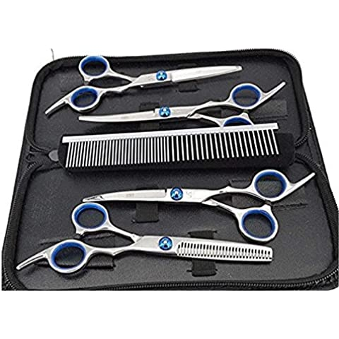 Professionale Forbici in Acciaio Inossidabile per Cane Gatto Capelli Shear Repair Tool (Incluso Pettine di Alta Qualità ) 6''