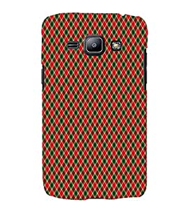Red checkes 3D Hard Polycarbonate Designer Back Case Cover for Samsung Galaxy J1 (2016) :: Samsung Galaxy J1 (2016) J120H