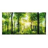 Fdit decoración de Acuario Fondo Verde Bosque Reptil HD Papel Pintado Efecto 3D Pegatina de Pared para Acuario